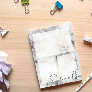 Custom Personalized Marble Notepads
