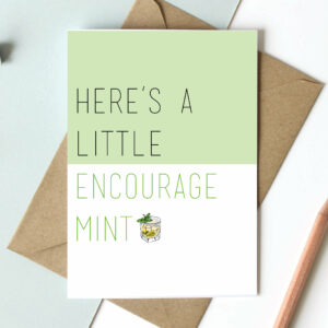 Mint Cards, everyday cards, retirement card - Pun Card Blank Inside