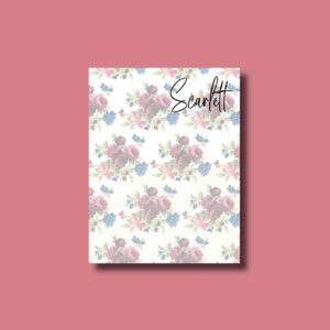 Vintage Flowers Custom Personalized Notepads