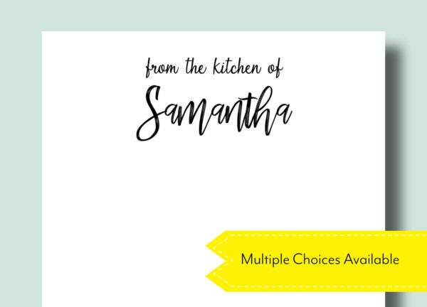 From the Kitchen of Chef Personalized Housewarming Gift Notepad