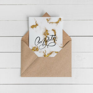 Congrats Card Set | Envelopes Included | Marble Greeting Card | Card for Wedding Baby shower graduation