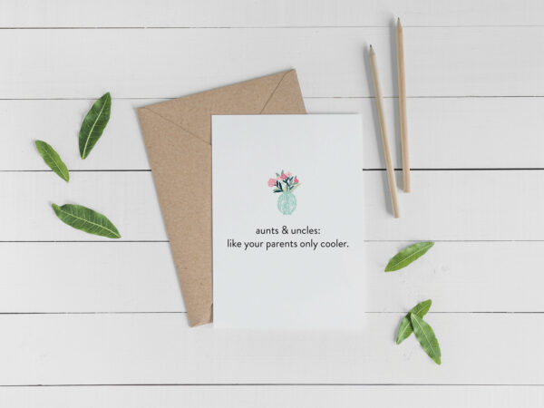 Favorite Aunt Uncle Card | Envelope Included | Card for family  | Greeting Card | Card for Aunt