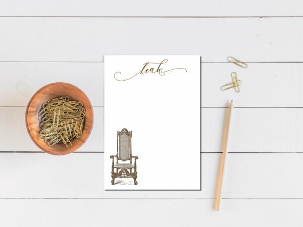 Personalized Notepad   Letter Writing Set  To do list notepad   Desk organization