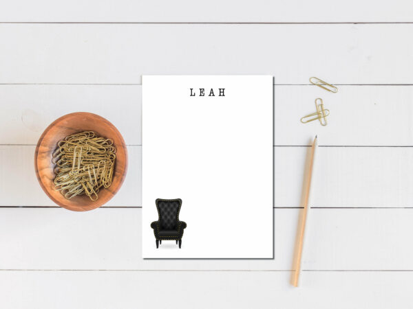 Personalized Notepad | Letter Writing Set |To do list notepad | Desk organization | Gothic