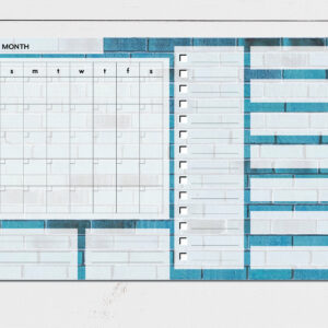 Large Monthly Planner Notepad | Corporate Gifts | Writing Pad | Paper Planner | Blue Brick