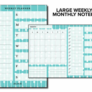 Personalized Large Monthly and Weekly Planner Notepad | Corporate Gifts | Writing Pad | Paper Planner