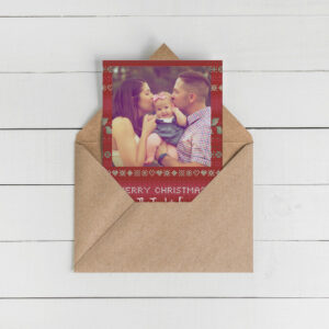 Ugly Sweater Photo Christmas Cards | Envelopes Included | Holiday Card Set  | Greeting Card |  Cross-stitch Christmas designs