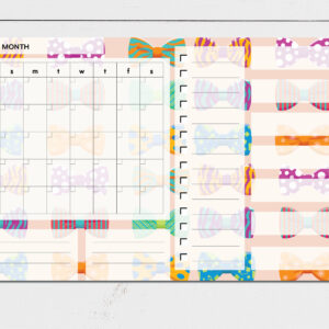 Large Monthly Planner Notepad | Corporate Gifts | Writing Pad | Paper Planner | Bow ties