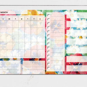 Large Monthly Planner Notepad | Corporate Gifts | Writing Pad | Paper Planner | Floral