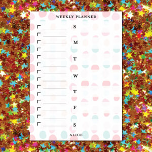 Large Weekly Planner Notepad | Corporate Gifts | Writing Pad | Paper Planner