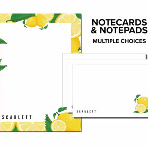 Personalized Notecard & Notepad Set | Desk organization | Plotter Card | Desk Card | Desk accessories