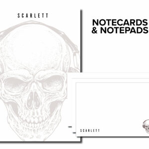 Skull Personalized Large Monthly and Weekly Planner Notepad | Corporate Gifts | Writing Pad | Paper Planner