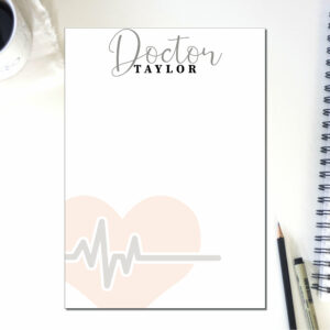 Personalized Doctor Note Pad | To Do List | Notepad Nurse | Desk Organization | Health Care