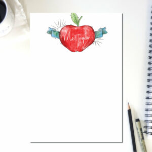 Personalized Apple Teacher Week Note Pad | To Do List | Notepad Teacher | Desk Organization