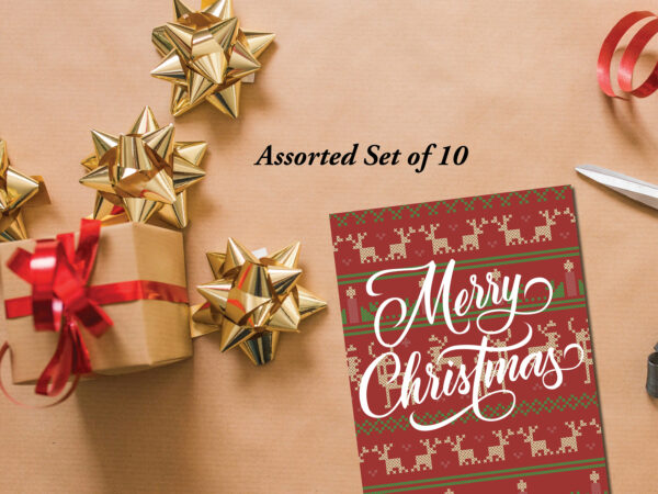 Ugly Sweater Assorted Christmas Cards | Envelopes Included | Holiday Card Set  | Greeting Card |  Cross-stitch Christmas designs